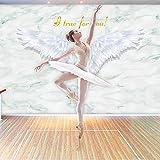 YTTBH Papier Peint Auto-Adhésif En 3D Peinture Murale De La Salle De Danse Dressing...