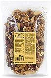 KoRo - Nussmischung 1 kg - 100 % Natur Ungesalzene Edel Nüsse - Mischung aus Mandeln, Paranüsse, Cashewkerne, Walnüsse, Haselnüsse