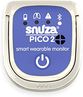 Snuza Pico 2 Smart Baby Movement Monitor with Mobile App - Works Anywhere with or Without Your Phone to Track Breathing Mo...