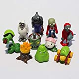 QIANMA Plants vs Zombies Plush Set 10pcs/Set PVZ Plant VS Zombie Torchwood Squash Gatling Pea Cattail Cob Cannon Zombie Yeti Dolphin Pider Zombie Toy for Kids