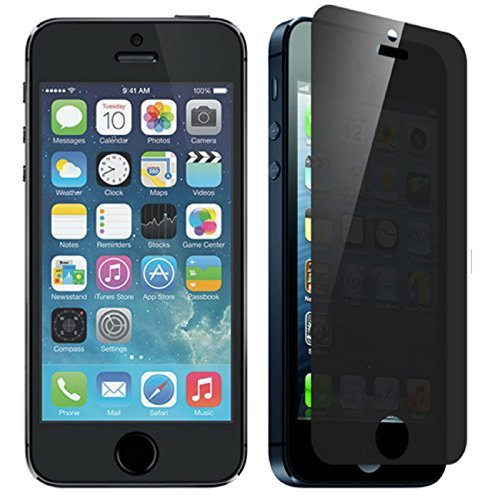 for iPhone 5/5S/5C/SE Anti Scratches Sticker,Gravydeals Ultra Thin Premium 2.5D 9H Tempered Glass Screen Protector Film Decal Skin Sticker