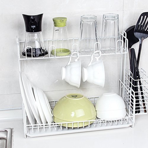 Creative Kitchen Drain Rack Dish Chopsticks Rack Sink Multi-layer Rack Finishing Storage Rack Drying Bowl Drip Rack (Color : B)