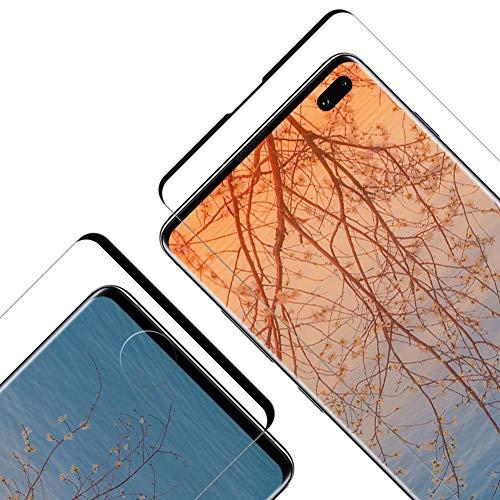 Vkaiy Pellicola Vetro Temperato per Samsung Galaxy S10 Plus, Copertura Completa Pellicola Vetro Temperato, 9H Durezza, Senza Bolle et HD Trasparente Protezione Schermo per Galaxy S10 Plus [2 Pezzi]