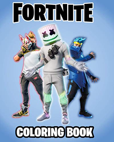 Fortnite Coloring Book: +120 Premium Coloring Pages for Kids and Adults, Gift Coloring Book for FORTNITE Fans