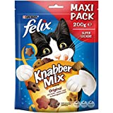 Felix KnabberMix Original mit Huhn, Leber- & Truthahngeschmack Katzensnacks Beutel, 200 g