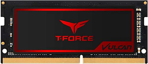 T-Force Vulcan SO-DIMM DDR4 16GB 2666MHz (PC4-21300) CL18 Gaming Laptop Momery with Super-Slim Graphene Copper-foil Heat Spreader TLRD416G2666HC18F-S01