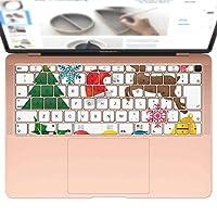 igsticker MacBook Air 13inch 2018 専用 キーボード用スキンシール キートップ ステッカー A1932 Apple マックブック エア ノートパソコン アクセサリー 保護 010030 クリスマス リボン 英語