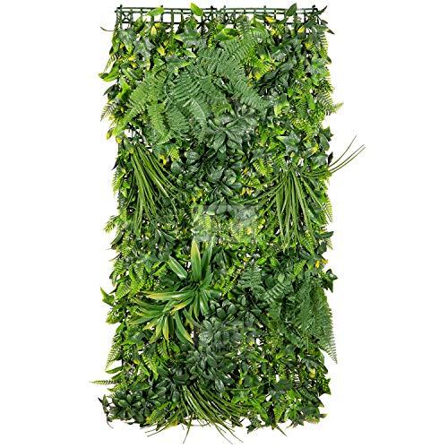 NatraHedge Artificial Rainforest Living Wall Vertical Garden for Outdoor Hedge...