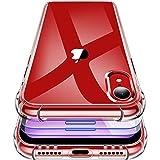 Garegce Cover Compatibile con iPhone XR con 2 Pezzi Vetro Temperato, Silicone in TPU Sottile, Antiurto AntiGraffio Protettiva Case Custodia Compatibile con iPhone XR- 6.1 Pollici - Trasparente