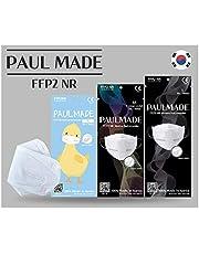 Gemaakt in Zuid-Korea / [24 St] FFP2-ademhalingsmasker/CE-gecertificeerd/Dermatest getest/hygiënisch verpakt/Meer Ademhalingsruimte Binnensteun/verborgen neusklem / 3D-ontwerp / 4-laags