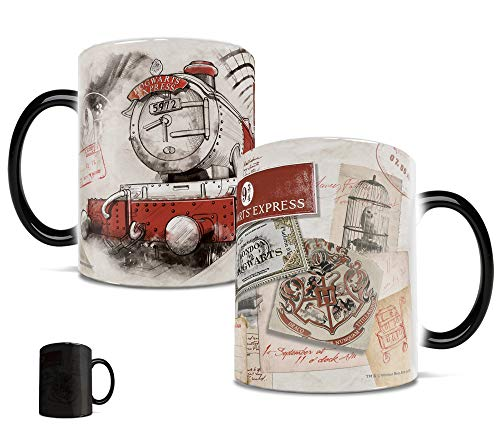 Morphing Mugs Harry Potter Platform 9 and 3/4 (3 quarters) Hogwarts Express Heat Reveal Ceramic...