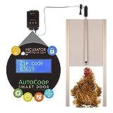 Incubator Warehouse AutoCoop Smart Door Kit, Fully Automatic Chicken Coop Door (Without Laylight)