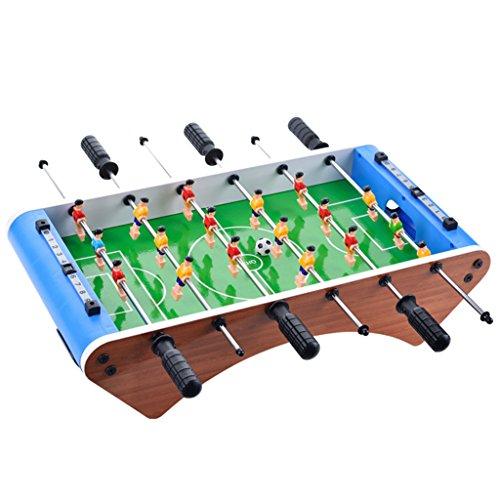Chunse 6 Ruten Tischfußball, 2 Personen Desktop-Fußball-Spielzeug-Spiele, Tischfußball Sportbrett, Mini-Indoor-Spielzeug, Family Football-Spiel, Kunststoff-Spielzeug