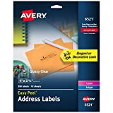 Avery Glossy Crystal Clear Address Labels for Laser & Inkjet Printers, 1 x 2-5/8 Inch, 300 Labels (6521)