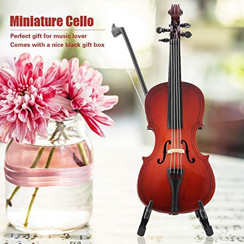 Musikalisches Modell, 5,5-Zoll-Miniatur-Cello, Geschenke Ornamente Exquisite Verarbeitung Freunde für Office Home Geschenke