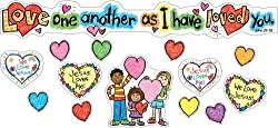 Carson Dellosa Christian Love One Another Bulletin Board Set
