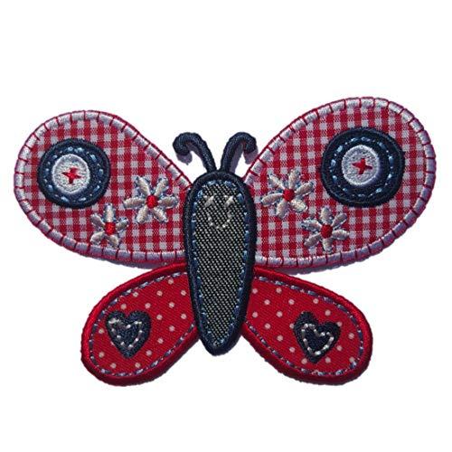 TrickyBoo 2 opstrijkbare vlinder 10 x 7 cm dolfijn 9 x 9 cm set patch applicaties voor het repareren van kinderkleding met design Zürich Zwitserland voor Duitsland en Oostenrijk