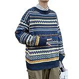 Suéteres de Hombre Otoño e Invierno Retro Guapo de Moda Suéteres de Punto Gruesos Sueltos Moda...