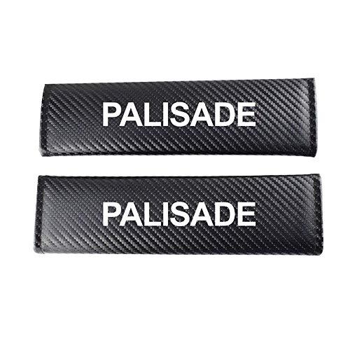 MAZE MA Paquete De 2 Almohadillas para CinturóN De Seguridad De AutomóVil para Hyundai Palisade Protector De CinturóN De Seguridad para AutomóVil Almohadilla De Hombro con Efecto De Fibra De Carbono