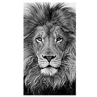 """リカオンキャンバスアートポスターとプリント白黒動物キャンバス絵画壁アート写真30x50cm / 11.8""""x19.7"""" フレームなし"""
