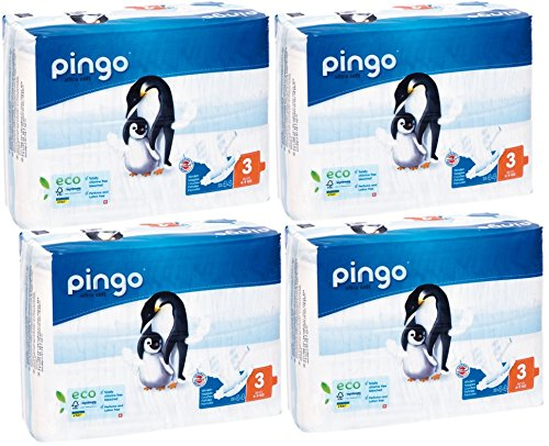 COUCHES PINGO Taille 3 : 4–9 kg 44 Couches Multi Buy x4, jetables écologiques
