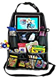 Rugged and Universal Backseat Organizer | Back Seat Organizer with iPad and Tablet Holder - Touch Screen Pocket for Tablets up to 10.1' - Perfect for Everyday Use or Travel - Remove Clutter and Mess