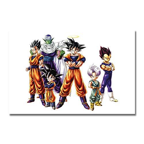 yaoxingfu Puzzle 1000 Piezas Arte Goku Anime Animación Puzzle 1000 Piezas educa Rompecabezas de Juguete de descompresión intelectual50x75cm(20x30inch)
