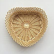 The New Woven Storage Basket, Original Color Rattan Willow Woven Fruit Tray Woven Plastic Storage Basket Creative Fruit Sn...