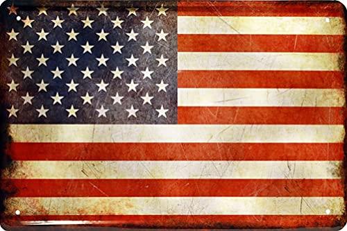 Länder Fahne Nationen National Flag Flagge Deko Blechschilder Wandschild Türschild (20 x 30 cm, United States of Amerika Vereinigte Staaten von Amerika USA 1512)