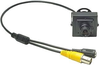 Ansice - Mini cámara fotográfica DE 36 mm Gran Angular 540TVL CMOS con Filtro CCTV con Agujero de Seguridad Oculto