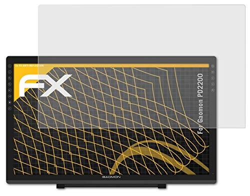 atFolix Panzerfolie kompatibel mit Gaomon PD2200 Schutzfolie, entspiegelnde & stoßdämpfende FX Folie (2X)