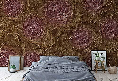 Rosa Rosen Abstrakte Textur Vlies Fototapete Fotomural - Wandbild - Tapete - 254cm x 184cm / 2 Teilig - Gedrückt auf 130gsm Vlies - 3518V4 - Blumen