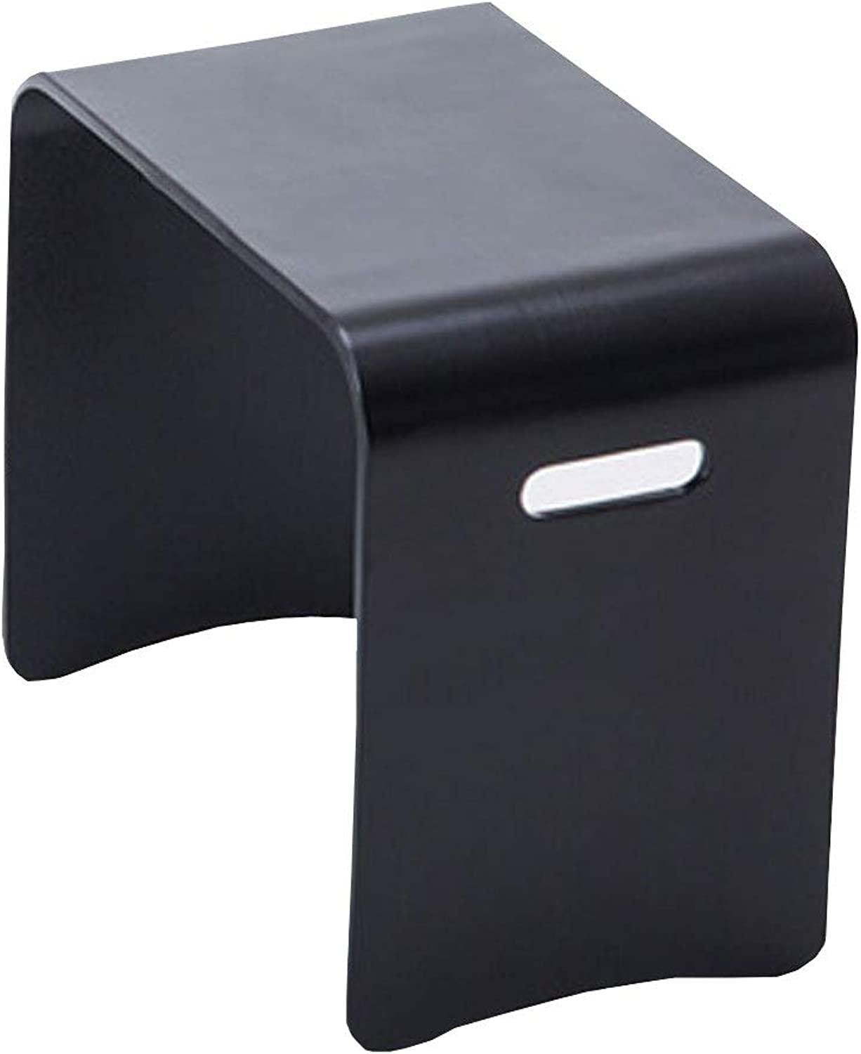 Stool Home Small Square Stool Black Solid Wood Stool Simple shoes Bench Bed Table Coffee Table Dining Table Stool (Size   S)