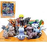 MNZBZ 6-9cm Anime Naruto Q Versión 10 Modelos de Ninetales Naruto Figura Childhood Tail Beast Figura...