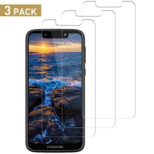 SNUNGPHIR Cristal Templado Compatible para Motorola Moto G7 Play, [3 Piezas] [Alta Definición] [9H Dureza] Vidrio Templado Protector de Pantalla para Moto G7 Play [Sin Cobertura Toda Pantalla]