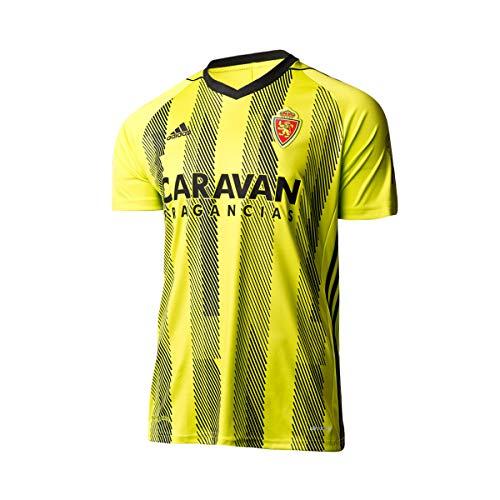 adidas Real Zaragoza Segunda Equipación 2019-2020, Camiseta, Semi Solar Yellow-Black, Talla M