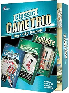 Masque Classic Game Trio With 640 Games: Mahjong, Solitaire & Card - PC/Mac