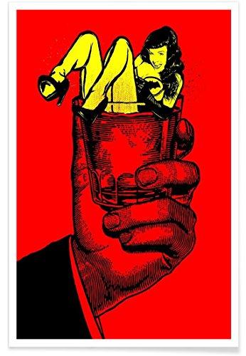 Juniqe® Affiche 30x45cm Pop Art - Design Bloody Bettie on The Rockers (Format : Portrait) - Poster, Tirages d'art & Tableaux par des Artistes indépendants créé par Butcher Billy