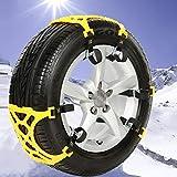 Cadenas de nieve Tamaño M del coche del neumático de nieve antideslizantes Cadenas Cadenas amarilla 6pcs / set for 1 con el coche Bolsa Negro Embalaje, cadenas de neumáticos de coches