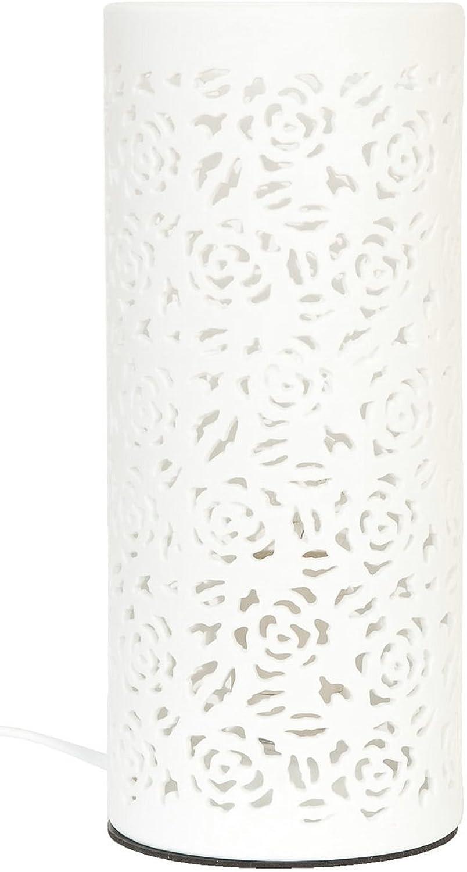 Clayre & Eef 6LMP091 Tischlampe Säule Weiß ca. Ø 12 12 12 x 28 cm E27 Max. 60W B00FRH4SGS  | Spielen Sie Leidenschaft, spielen Sie die Ernte, spielen Sie die Welt  5c8006