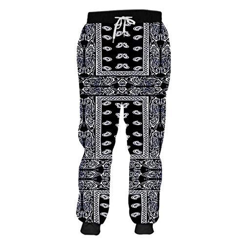 Unisex 3D Print Schwarz Bandana Hoodies Paisley Sweatshirt T-Shirt, Hoodies, Jacke Bandana Paisley XL
