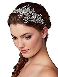top rated Mariel Couture Crystal Spray Bridal Headgear Hair Vine – Wedding Hair Band Gram 2021