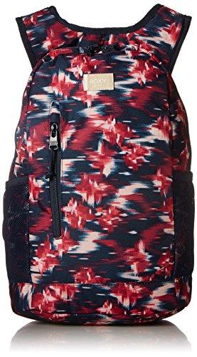 Roxy Girls' Big Traveling Mind Backpack, dress blues neon waterfall, One Size