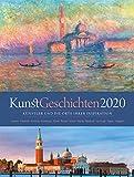 KunstGeschichten 2020, Wandkalender im Hochformat (50x66 cm) - Kunstkalender mit Fotografien der Originalschauplätze mit Monatskalendarium - Ackermann Kunstverlag