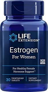 Life Extension Estrogen for Women for Healthy Female Hormone Support 30 Vegetarian Tablets