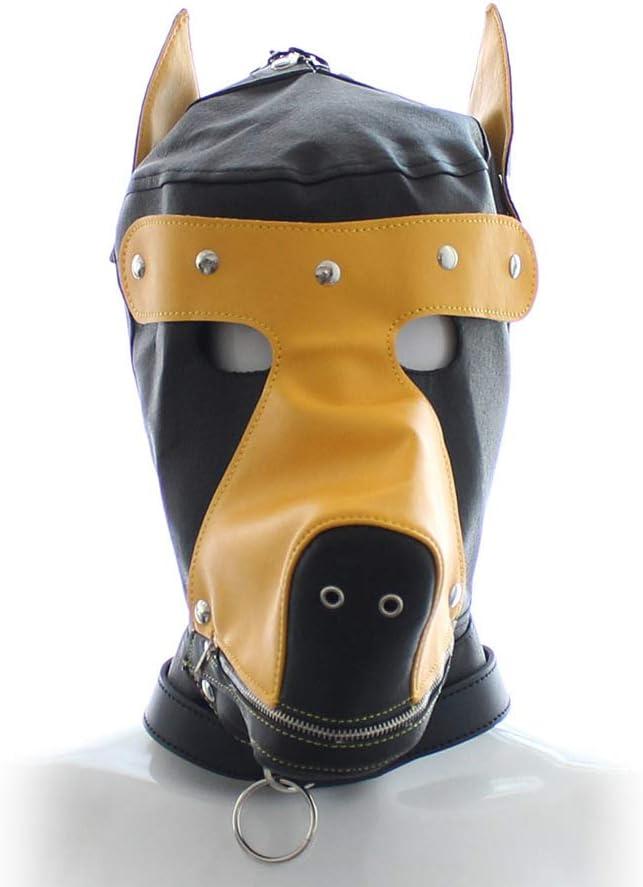 LCTS Luxury goods National products Fetish Mask Dog Harn Headgear Leather Bondage