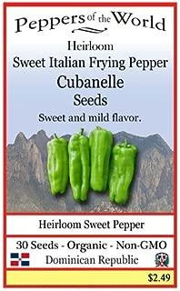 Cubanelle - Sweet Italian Frying Pepper - 30 Seeds - Organic - Non-GMO