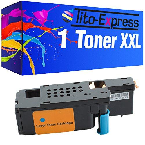 Tito-Express PlatinumSerie 1x Toner-Kartusche XXL für Dell 1250 Cyan 1250C 1350 CNW 1355 C1760 NW C1765