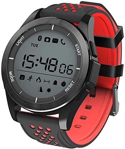 Reloj Deportivo Digital Hombres Mujeres Fitness Podómetro Militar al Aire Libre LED Relojes Impermeables Luz de Fondo electrónica 50M para Android iOS-Negro Rojo