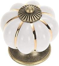 PYouo-kast behandelt pompoen keramische kast grepen, vintage meubilair handvat deurknoppen, meubels lade kast keuken pull ...